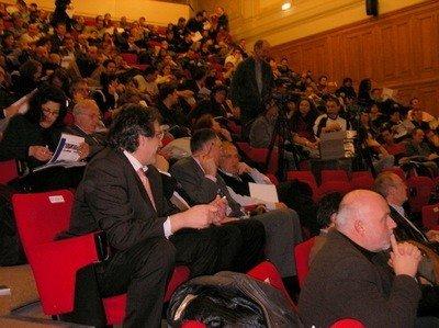 La foule dans l'amphi pour le lancement de ClassMobil !