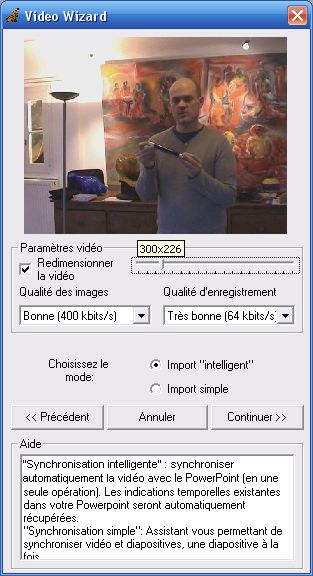 Assistant vidéo