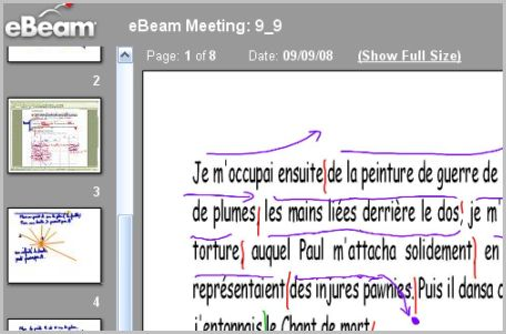 eBeam réunion: logiciel pour tableau interactif