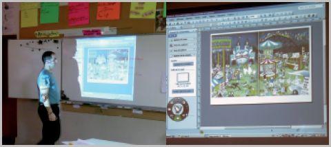 Tableau interactif en commune rurale