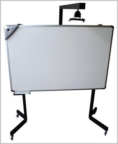 Tableau Interactif BlBright avec Support Roulettes et courte focale