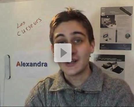 Les curseurs gris sur Alexandra