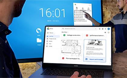 cloud sur écran interactif