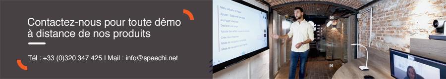 démostration écran interactif à distance