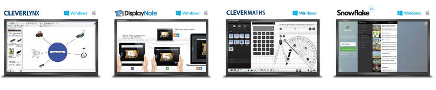 logiciels pour écrans interactifs clevertouch