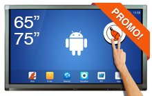 "Interactieve SpeechiTouch 65″ en 75"" Android-touchscreens"