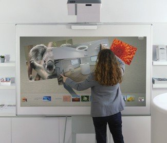 interactive touch video projector for big rooms