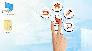 zwevend gereedschapspalet voor SpeechiTouch touchscreen