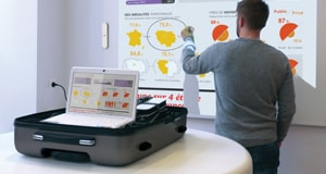 speechicase 2 wheeled suitcase - mobile interactive projector