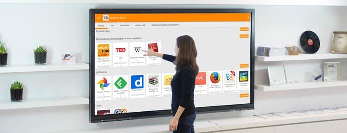 nouvelles applications pour ecran interactif speechistore