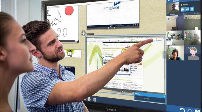 écran interactif visioconférence