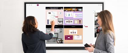 écran tactile outils collaboratifs