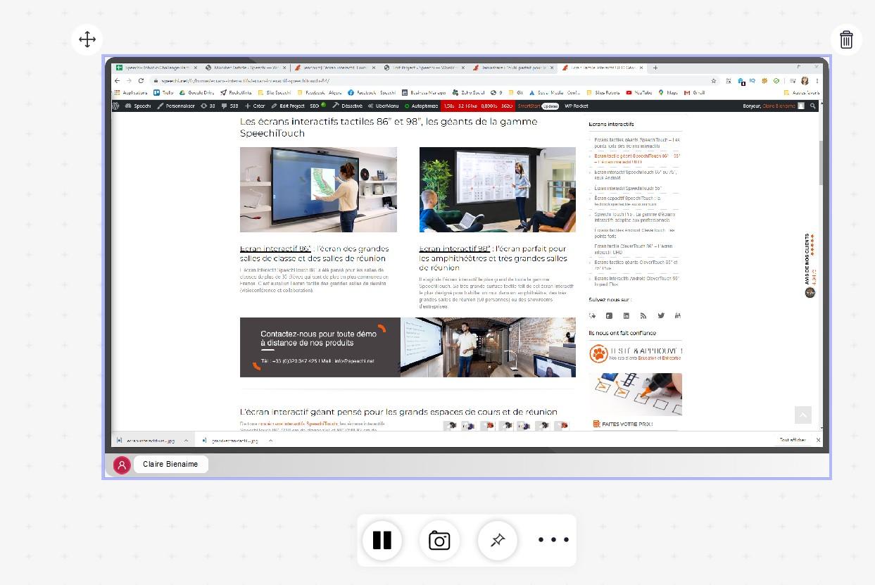 partage écran logiciel collaboratif