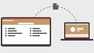 partager les documents sur un écran tactile