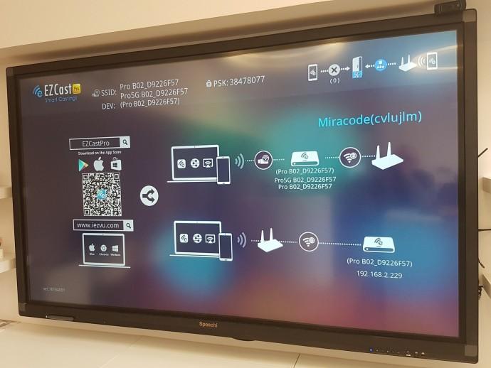 BYOD EZCast sur écran interactif