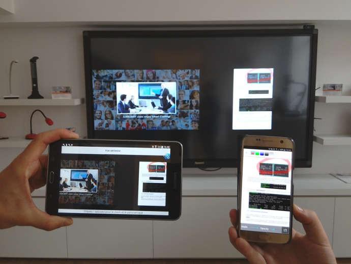 Partage de contenu EZCast (sur écran interactif)