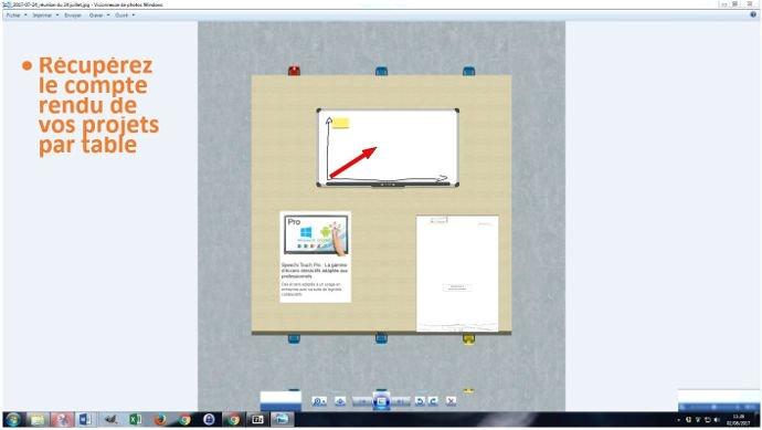 Sauvegarde de la table de réunion virtuelle Tamashare