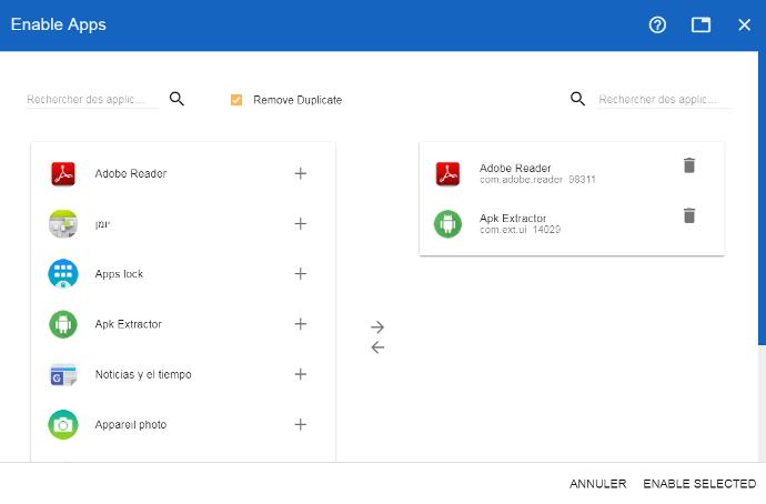 Applications à déverrouiller sur un écran interactif tactile