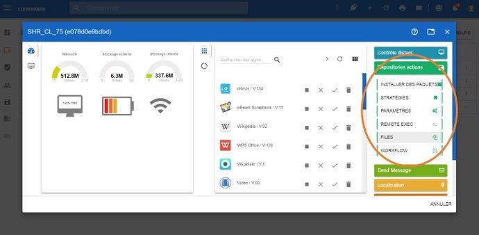 Envoyer un fichier sur votre écran interactif tactile depuis le serveur de gestion MDM