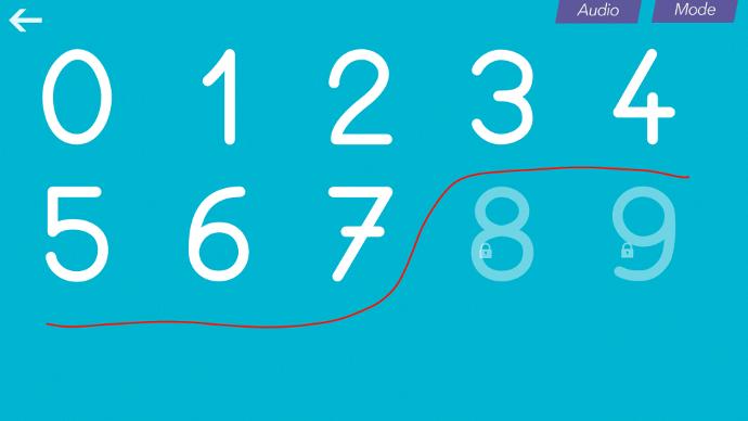 Apprendre les chiffres sur un écran interactif tactile