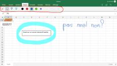 Fonction tactile Excel sur un écran interatif tactile