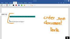 Fonction tactile Word sur un écran interatif tactile