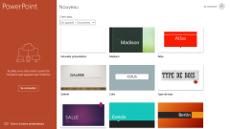 Page d'accueil PowerPoint pour écrans interactifs tactiles