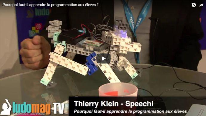 video de robot pédagogique