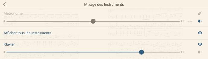 Outils de mixage sur un écran interactif