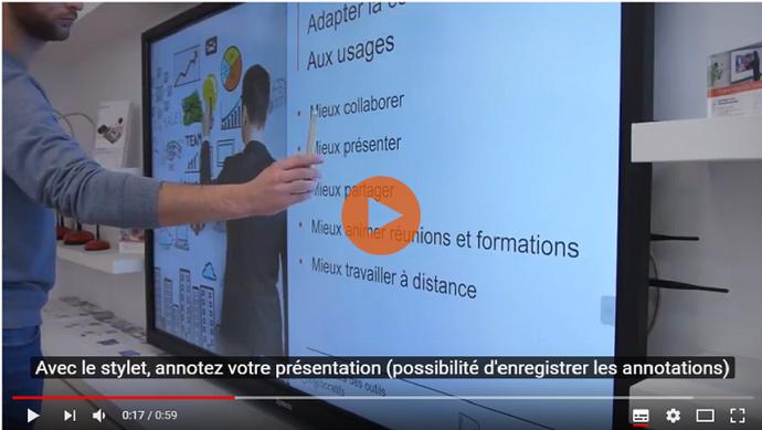 """Fonctionnalité de reconnaissance """"doigt / stylet"""" pour écran tactile SpeechiTouch"""