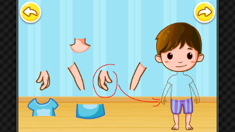 Le corps humain sur un écran interactif