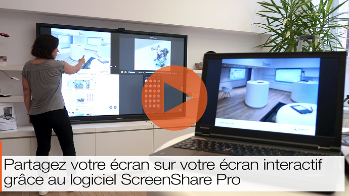 application de collaboration ScreenShare Pro vidéo
