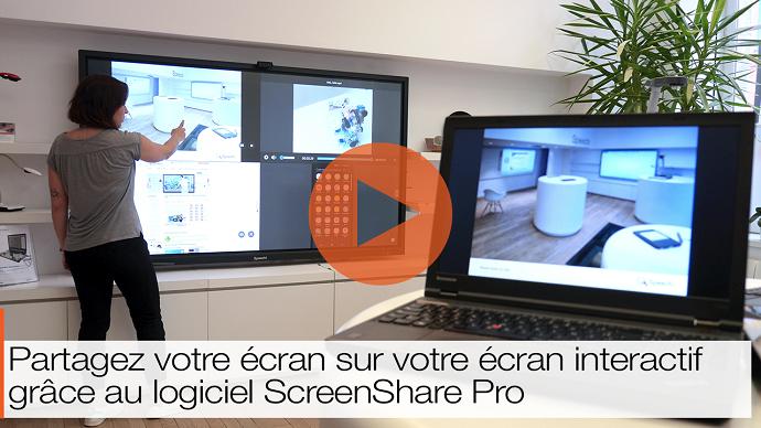 application de collaboration ScreenShare Pro vidéo