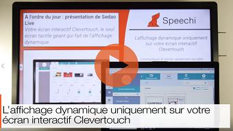 affichage numérique sur clevertouch en video