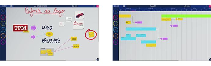 Les différents templates proposés dans l'outil collaboratif Ubikey