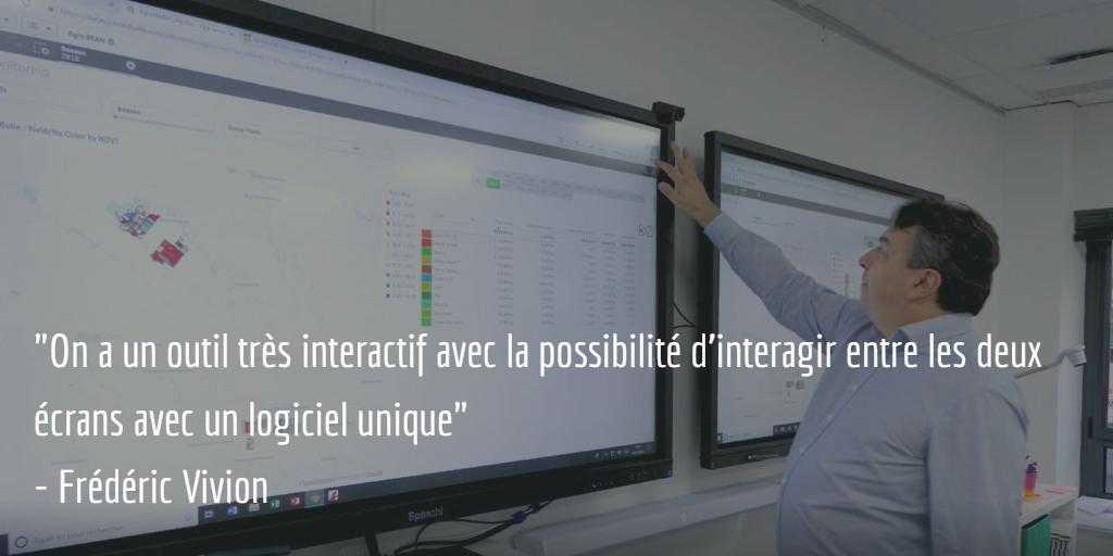 écran interactif en entreprise agroalimentaire Frédéric Vivion