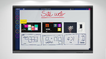 Le template Whiteboard du logiciel collaboratif Ubikey