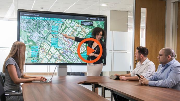 Vidéo de presentation de l'ecran interactif CleverTouch professionnel