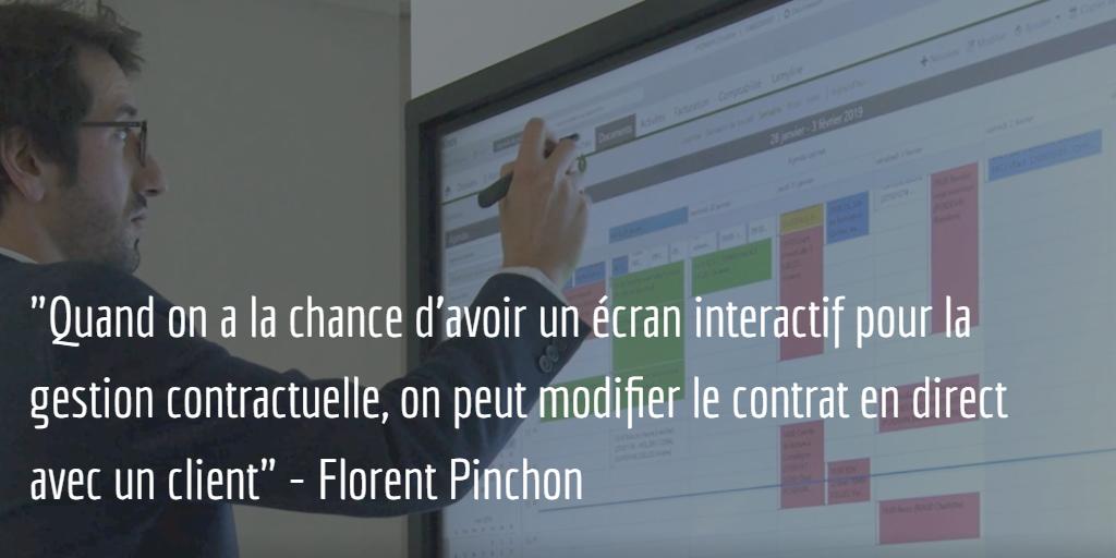 ecran interactif en entreprise utilisation du logiciel de gestion pour cabinet avocat