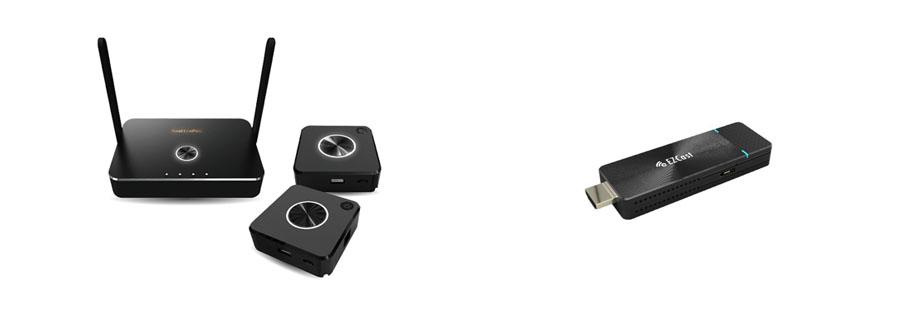accessoires pour ecran interactif boitier wi fi miroir quattropod 4k, cle wi fi miroir 4k ios android windows