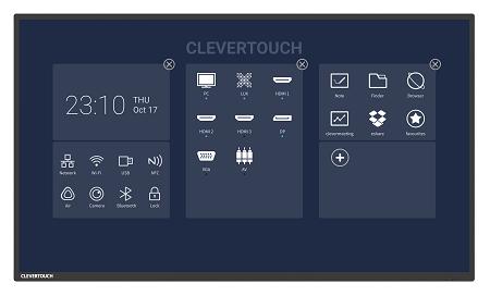 ecran interactif professionnel géant clevertouch