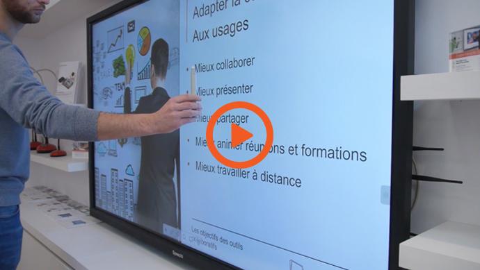 vidéo utilisation du stylet pour écran interactif