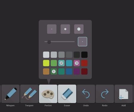palette du logiciel professionnel pour écran interactif lynxpro meeting
