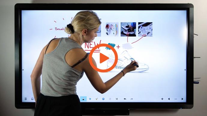 vidéo utilisation stylet pour écran interactif Clevertouch
