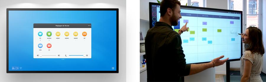 ops windows à insérer dans l'écran interactif capacitif