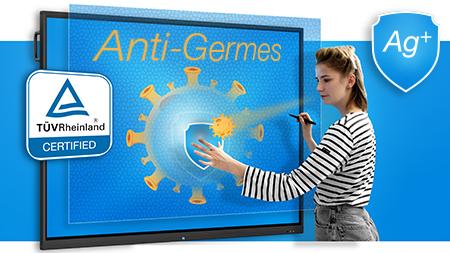 écran interactif anti-germes