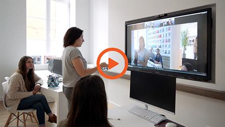 La vidéo de démonstration de l'ePTZ sur une caméra de visioconférence
