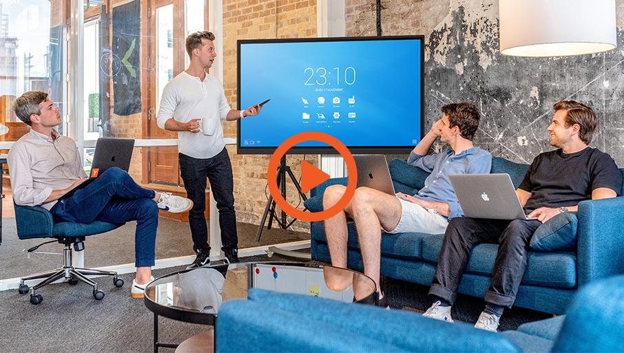 vidéo présentation écran interactif