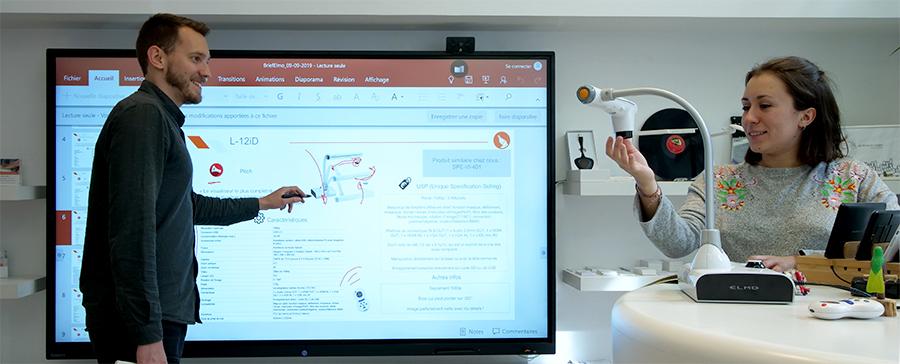 powerpoint sur écran interactif tactile
