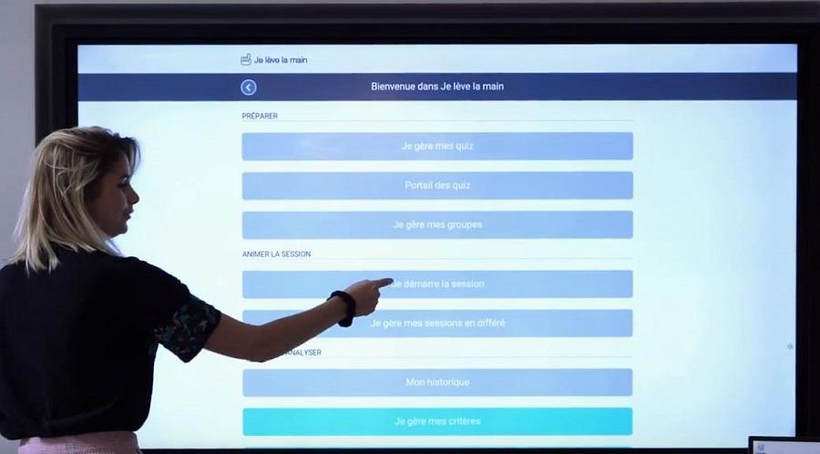 logiciel d'évaluation et de sondage sur écran interactif